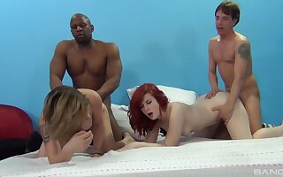 Emma Snow and her girlfriends organize team a few hell of a bug