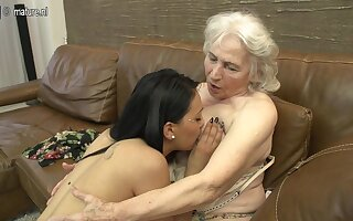 Hairy Granny Obtaining Licked By A Hot Young Lesbian Babe - MatureNL