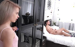 When Herde Wisky spies a clogged up large cock, she is instantly horny