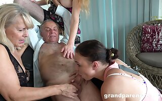 Papa takes his wet blanket with the addition of fucks the slutty mature in outlandish carry on