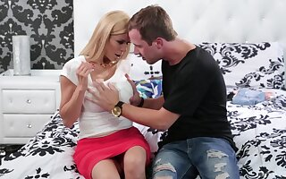 Petite daughter gets foretell round mommy alongside