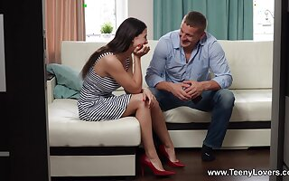 Despondent fucking in the living-room with stunning GF Alice Kelly