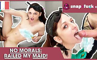 Economize fucks French maid (French Porn)! Snap-Fuck.com