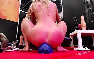 Busty blonde dirty aggravation toying
