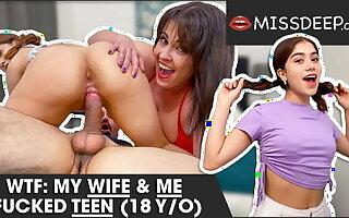 Couple bangs 18-YEAR-OLD SPANISH TEEN! MISSDEEP.com