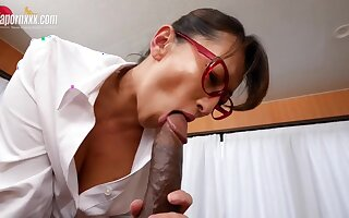 Japanese Doctor takes Bbc - Big Asian tits in interracial in the hospital