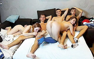 Chum around with annoy Crazy Teenagers – Russian 5some Group Cam Dissemble Enactment
