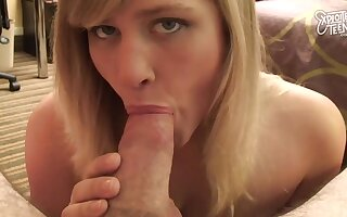 Hot Teen With Big Titties Gets The brush Tight Bobby-soxer Pussy Filled With Cum - Deep throat
