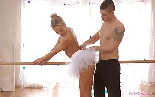 Nude porn for a shaved ballerina on fire