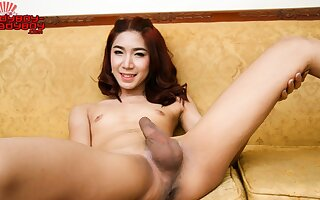 Vicky Cums Enveloping Over The Table - Ladyboy-Ladyboy