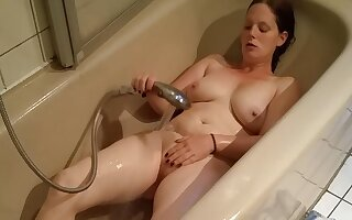 Fat ugly German BBW masturbates in bathtub! big ass and Tits