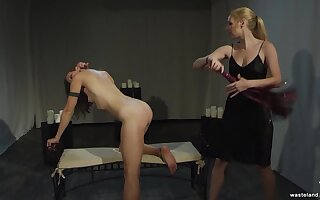Spanking, ass and pussy torture for a lesbian teen by her mistress