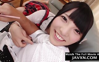 Beautiful, Asian schoolgirl is fucking her step- founder better than any other comprehensive and enjoying it