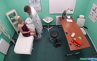 Teen hottie Anna Rey receives a rough dicking in all directions the doc's office