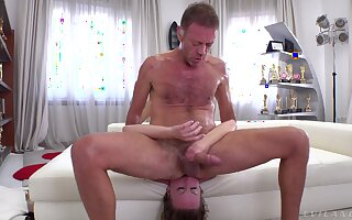 Blondie endures Rocco's massive dong in brutal anal scenes