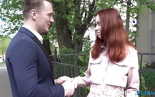 Russian teen redhead Lagoon Blaze likes with regard to be captivated by