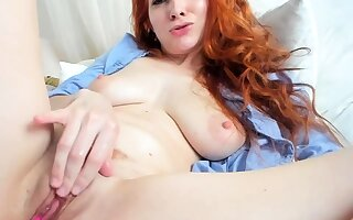 One of a kind close nearby pervert of a sexy redhead