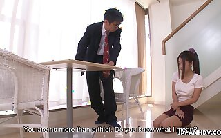 Stepdad punishes his bratty stepdaughter added to that girl gives some serious head