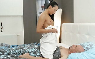 OLD4K. Older guy can enjoy young body of his girl all day