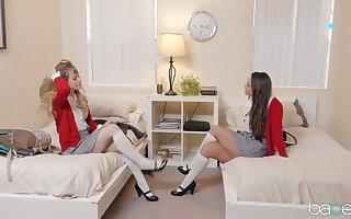 Sexual scissoring between roommates in glory XXX