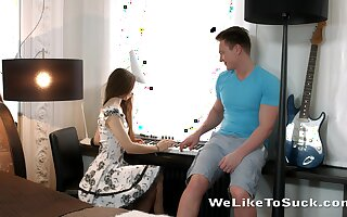 Unostentatious teen Stefany turned to be anal-insane chick