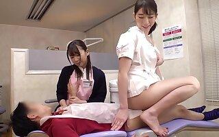 asian eccentric nurses threesome sex